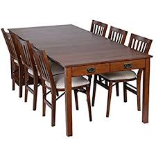 Amazoncom Coaster  Mission Style Dining Table Burnished - Mission dining room table
