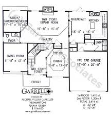traditional house floor plans hton house plan house plans by garrell associates inc