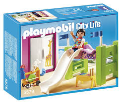 amazon com playmobil children u0027s room with loft bed u0026 slide set