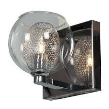 amazon com aeria 1 light metal foil in glass vanity chrome