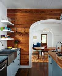 Painted Or Stained Kitchen Cabinets Before U0026 After Outdated Paneled Walls To Fabulous Space Http
