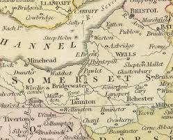 somerset map history of somerset map and description for the county