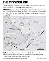 Florida Turnpike Map N J Pennsylvania Officials Plan To Close Longtime Gap On Route
