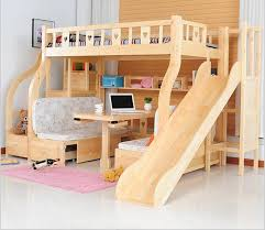 Bunk Bed With Study Table Children Beds Multi Function Environmental Children Bunk Bed