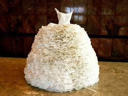 paper wedding dress you obviously won t wear a toilet paper wedding dress but these