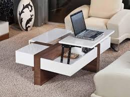 Unique Coffee Tables White Square Modern Laminated Wood Lift Top Unique Coffee Tables