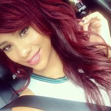 what color is cyn santana new hair color cyn santana cyn santana pinterest bob bangs red bob and bobs
