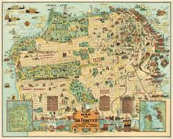 san francisco map quilt illustrated map of san francisco map by ancientshades