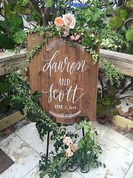 personalized wooden wedding signs the idea of a sign like this at the entrance of the wedding