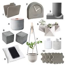 10 modern concrete accessories design milk