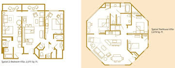 disney bay lake tower floor plan disney saratoga springs 1 bedroom villa floor plan