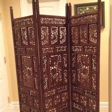 interior antique hand carved teak wood room divider screens for