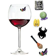 amazon com halloween wine charms magnetic drink markers that