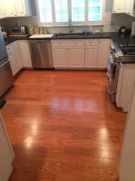 flooring cozy bruce hardwood floors with paint kitchen cabinets