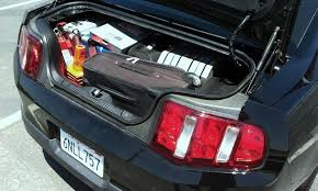 mustang convertible trunk ford mustang convertible 2005 2014 trunk space how much fits in