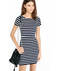 navy blue and white striped dress dress ty