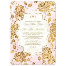 thanksgiving wedding invitations wedding invitation vintage floral blush pink ivory gold leaf