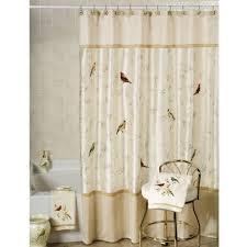 Bird Print Curtain Fabric Beautiful Nature Inspired Shower Curtain Bathroom Nature Inspired