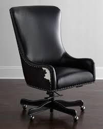 Black Leather Office Chairs Hooker Furniture Matilda Beige Leather Office Chair
