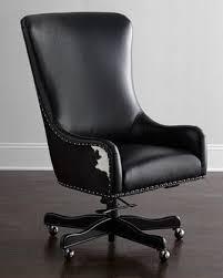 venice studio black leather task office chair