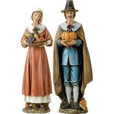 josephs studio thanksgiving pilgrim resin figurines 2 piec