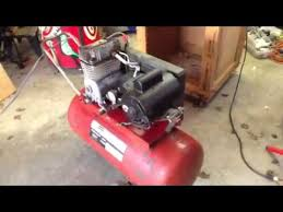 craftsman 5 hp air compressor youtube