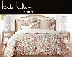 Pottery Barn Comforters Pottery Barn Comforters Nicole Miller Jada Large Leaf Scrolls