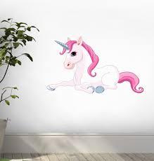 amazon com wallmonkeys adorable unicorn peel and stick wall amazon com wallmonkeys adorable unicorn peel and stick wall decals wm51349 18 in w x 13 in h home kitchen