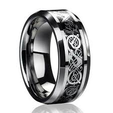 mens stainless steel wedding bands cool men s silver celtic titanium stainless steel wedding