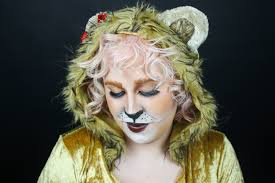 cowardly lion halloween makeup tutorial youtube