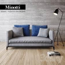 Minotti Andersen Sofa 3d Models Sofa Minotti Andersen Slim 90 Armchair Quilt