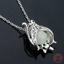 sterling necklace images Sterling silver luminous glow in the dark bat necklace fanduco jpg