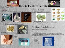 how do geologists identify minerals