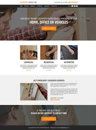 locksmith service html responsive website templates for sale
