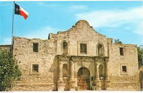 Alamo Flag The Alamo Texas Texas United States Of America Postcard 3324