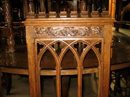 12 matching gothic dining chairs u2013 hand carved oak olde chicago