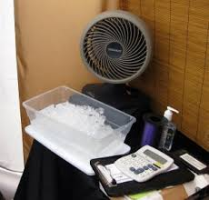 fan that uses ice to cool seashore cre8ions be cool