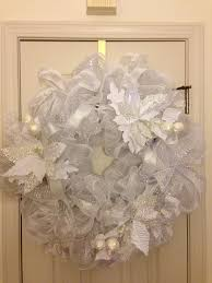 White Deco Mesh 14 Best Deco Mesh Christmas Wreaths Images On Pinterest