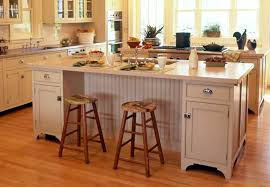 perfect white kitchen island with decorative white marble