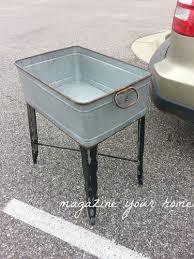 upcycled washtub makeover diy kitchen island before and after