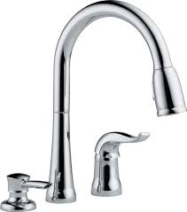 Delta Single Hole Kitchen Faucet by Delta 16970 Sd Dst Single Handle Pull Down Kitchen Faucet With