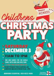 children u0027s christmas party royal yacht club of tasmania
