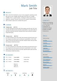 Free Resumes Templates To Download Free Downloadable Cv Template Examples Career Advice How To