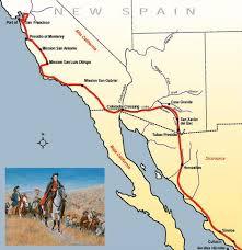De Anza Map Along The Anza Trail