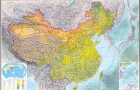 Terrain Map Of Usa large scale detailed topographic map of china 1984 with all