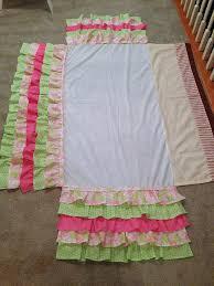 Pottery Barn Ruffle Crib Skirt A Little Bolt Of Life Diy Ruffled Crib Skirt Because I Know I Won