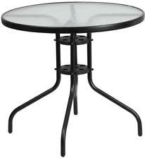 Black Glass Patio Table Glass Patio Tables Ebay