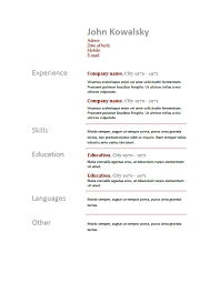 It Knowledge Resume Free Resume Templates