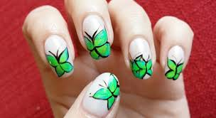 butterfly nail design a favorite among nail