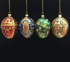 joan rivers 2015 set of 4 russian inspired egg ornaments